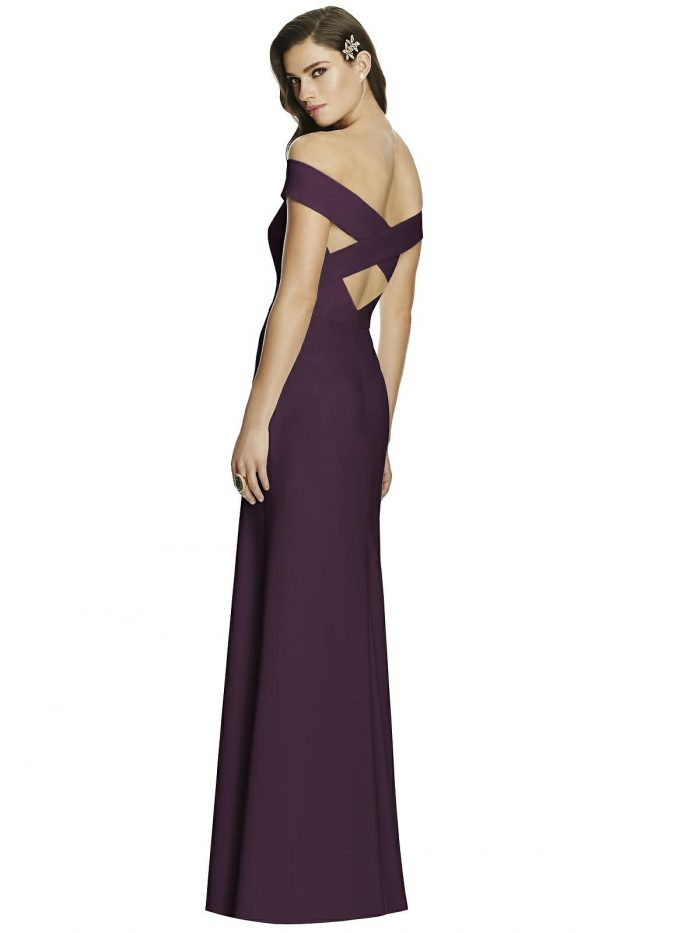 Aubergine Purple Bridesmaids Dress