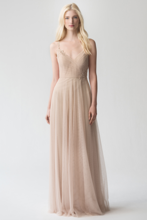 Brielle Applique Bridesmaids Dress by Jenny Yoo - Cashmere