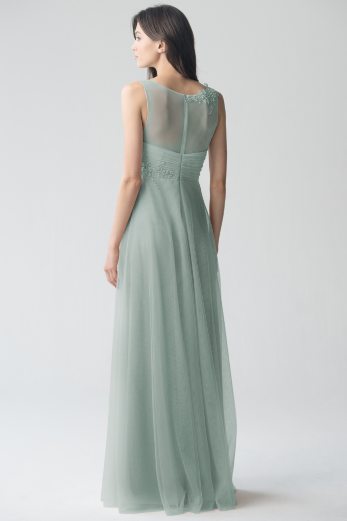 Emelie Appliqué Bridesmaids Dress by Jenny Yoo - Morning Mist