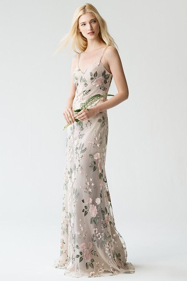 Embroidered Julianna Bridesmaids Dress by Jenny Yoo - Blush Sand Dune