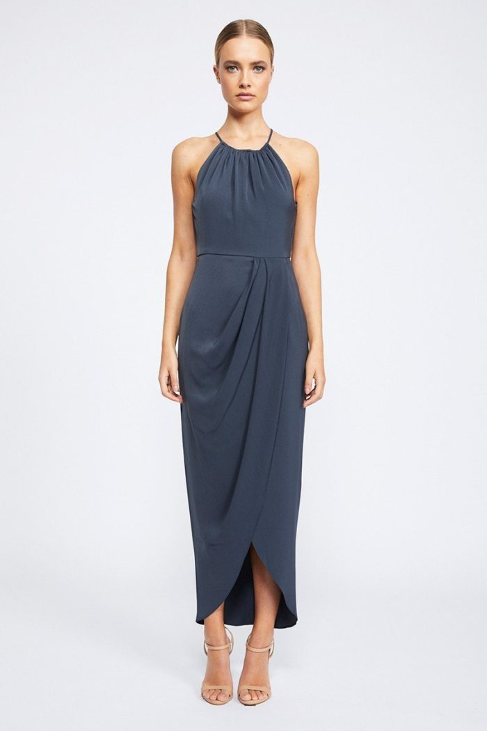 Annalise Core High Neck Ruched by Shona Joy - Charcoal