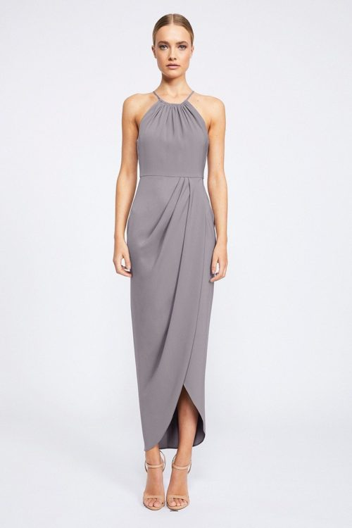 Annalise Core High Neck Ruched by Shona Joy - Grey