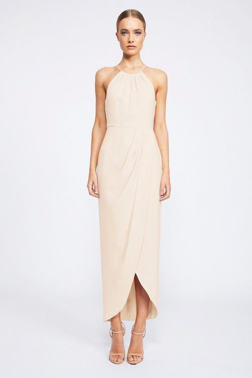Annalise Core High Neck Ruched by Shona Joy - Nude