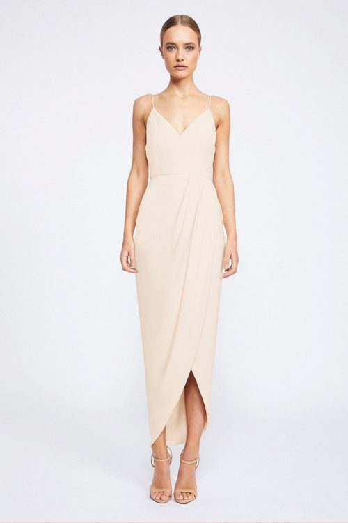 Samantha Core Cocktail Dress by Shona Joy - Nude