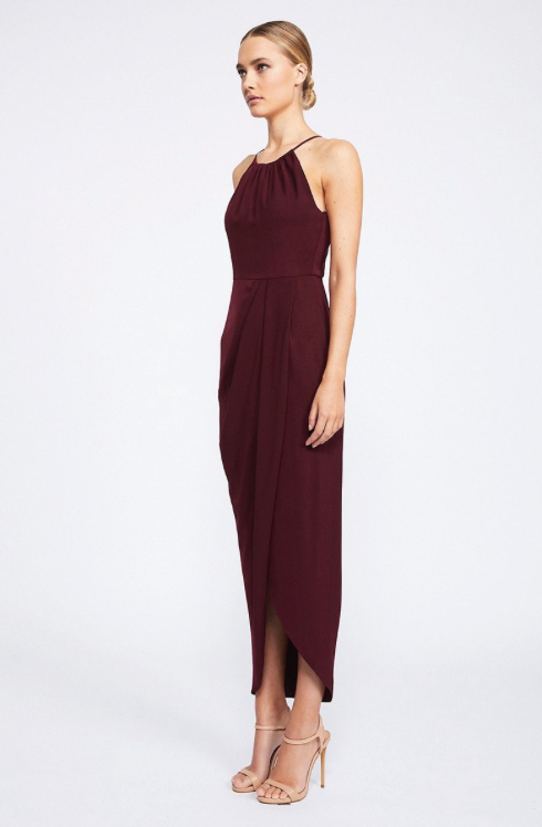 Annalise Core High Neck Ruched by Shona Joy - Burgundy