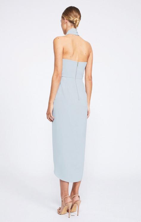 Amanda Core Knot Draped Dress by Shona Joy - Powder Blue