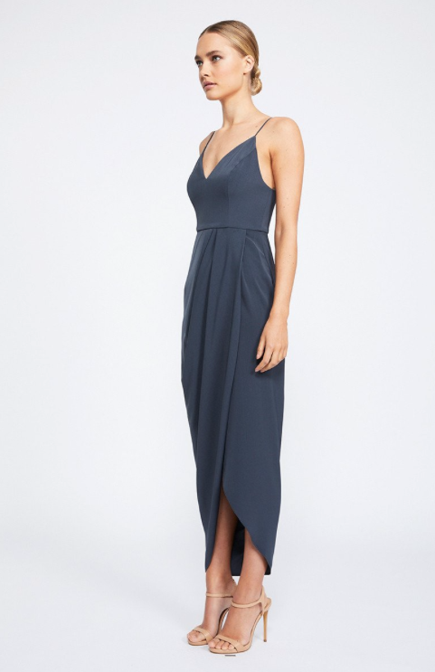 Samantha Core Cocktail Dress by Shona Joy - Charcoal