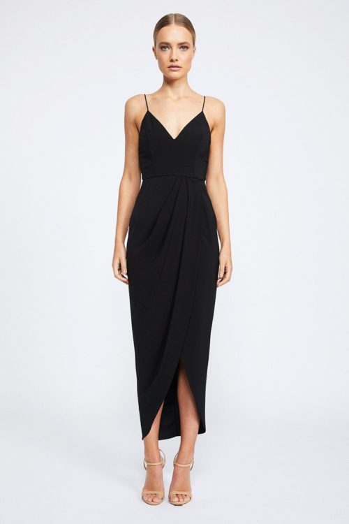 Samantha Core Cocktail Dress by Shona Joy - Black