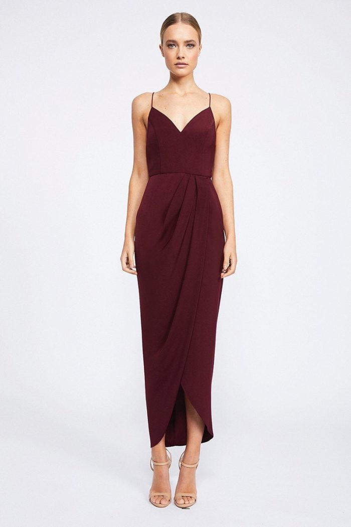 Samantha Core Cocktail Dress by Shona Joy - Burgundy