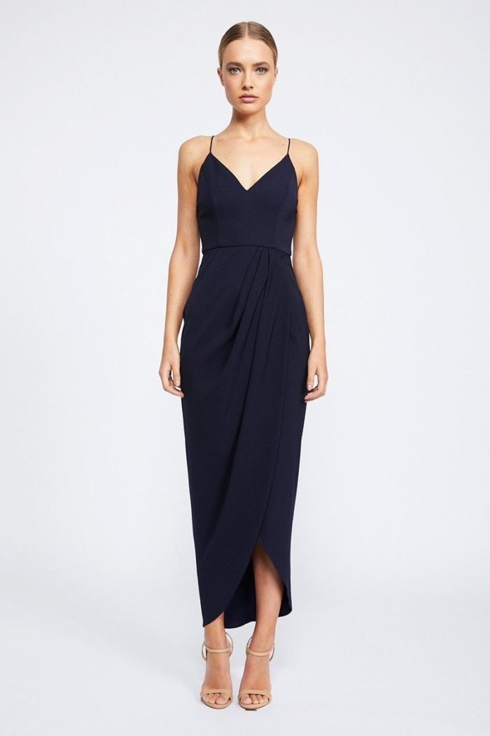 Samantha Core Cocktail Dress by Shona Joy - Navy