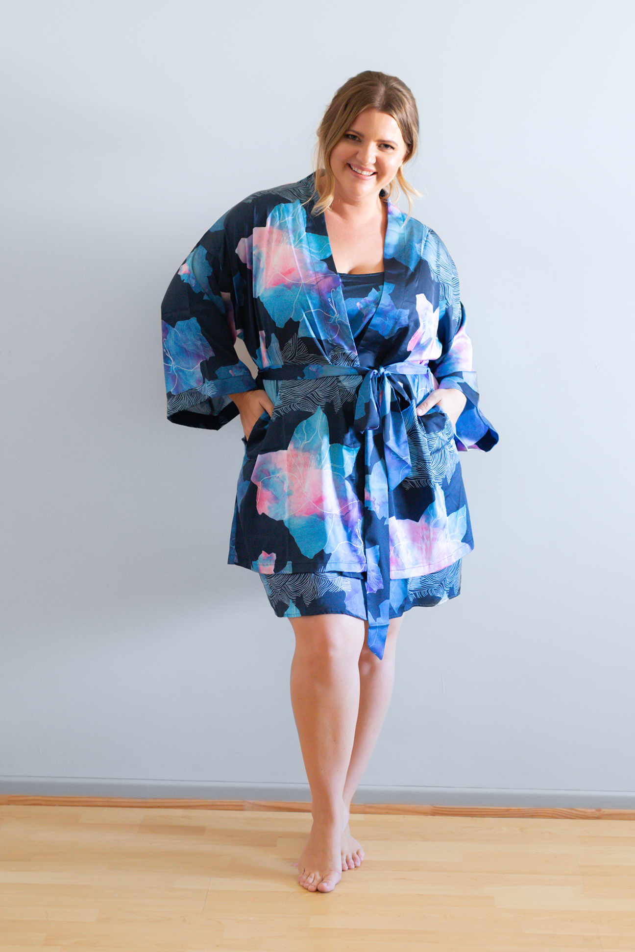 Floral Bridesmaid Robes for bridal parties curvy