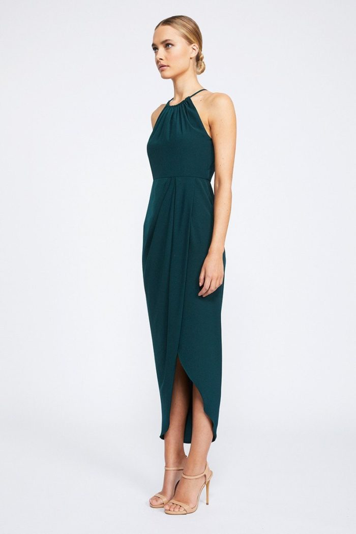 Annalise Core High Neck Ruched by Shona Joy - Seaweed