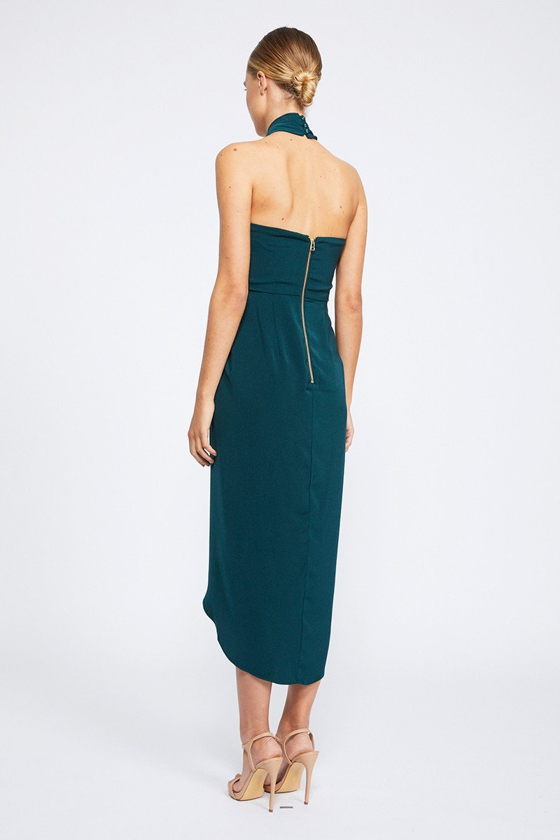 discount collection best selling selected material Amanda Core Knot Draped Dress by Shona Joy - Seaweed