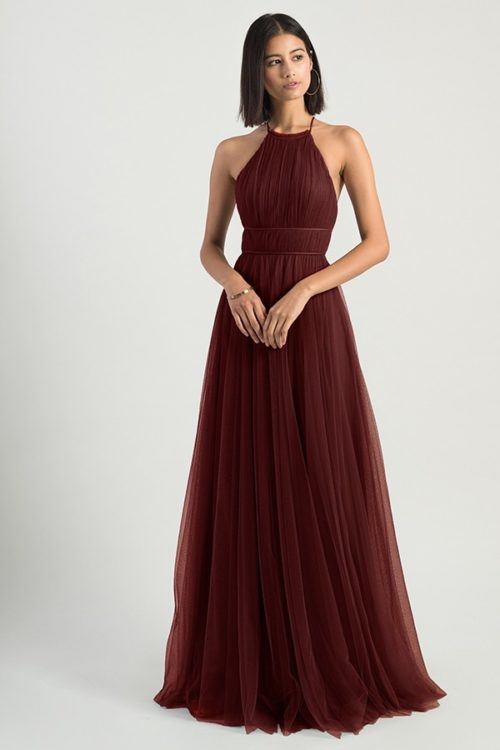 Helena Bridesmaids Dress by Jenny Yoo - Cabernet
