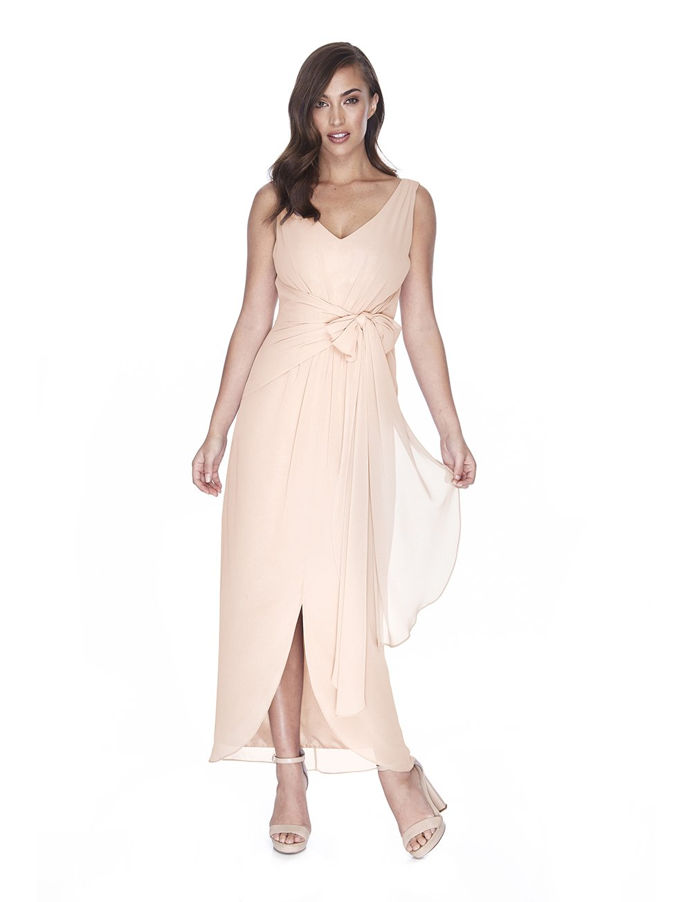 Try Before You Buy Bridesmaids Dress Ella in Barely Blush