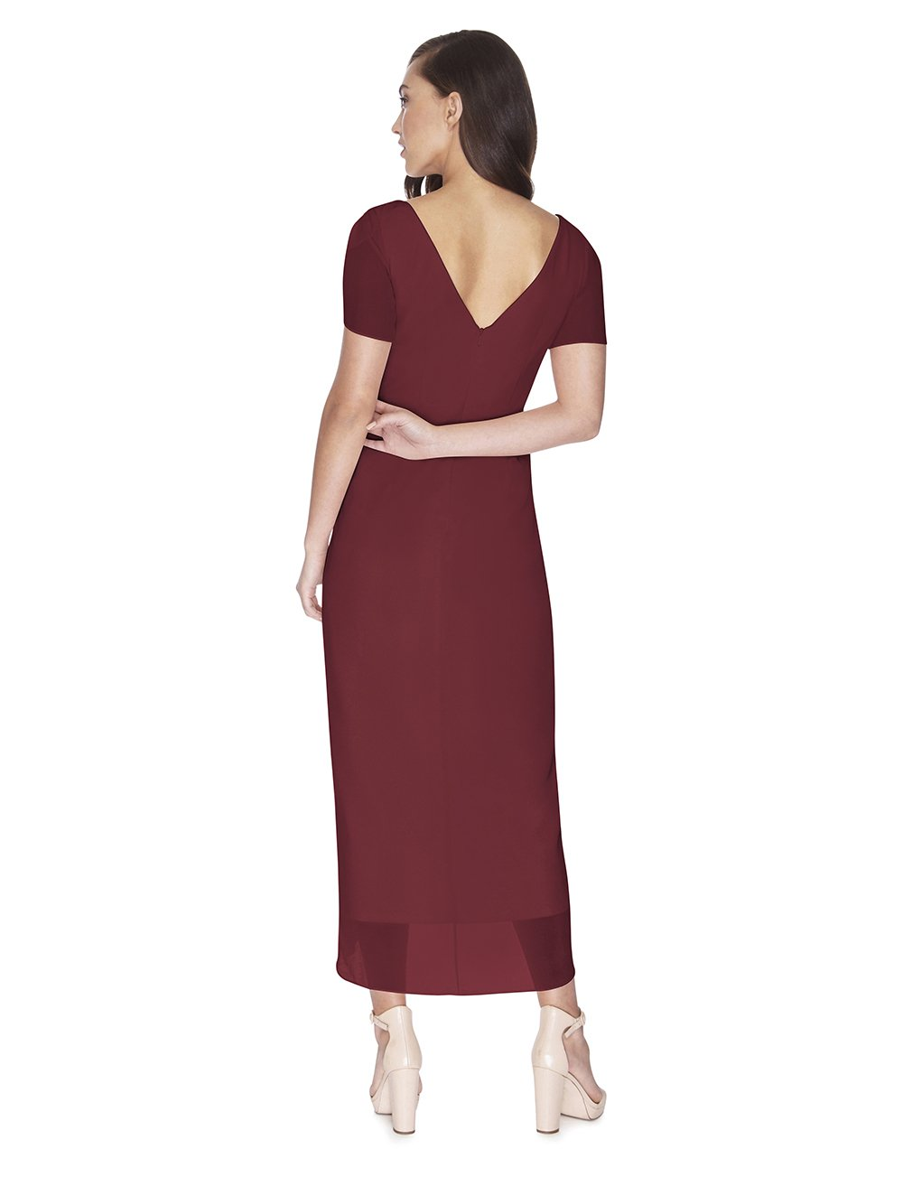 Try Before You Buy Bridesmaids Dress Zara in Merlot
