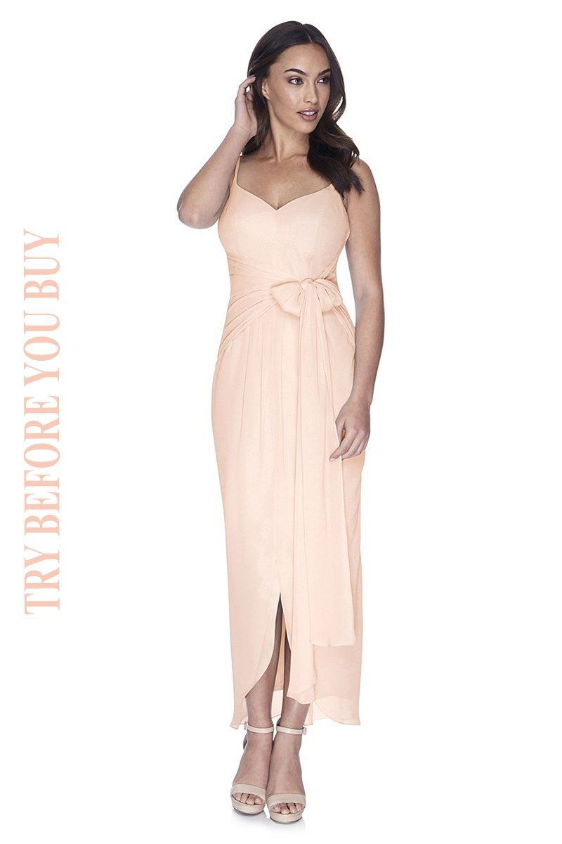 Try Before You Buy Bridesmaids Dress Chloe in Blush Pink