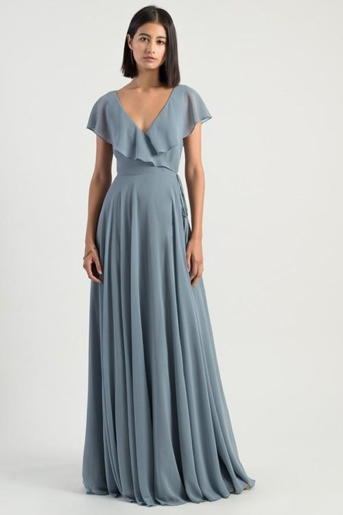 Faye Bridesmaids Dress by Jenny Yoo - Mayan Blue