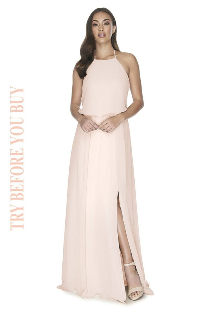Try Before You Buy Bridesmaids Dress Jesinta in Blush