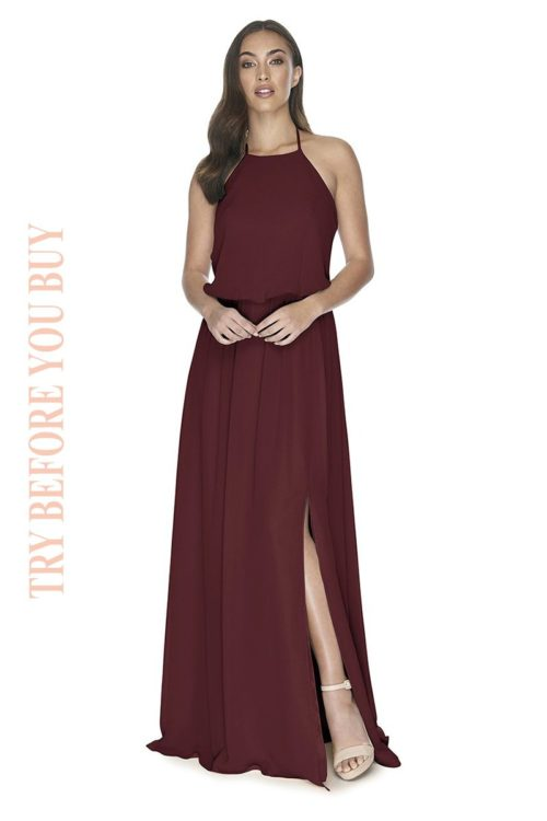Try Before You Buy Bridesmaids Dress Jesinta in Merlot
