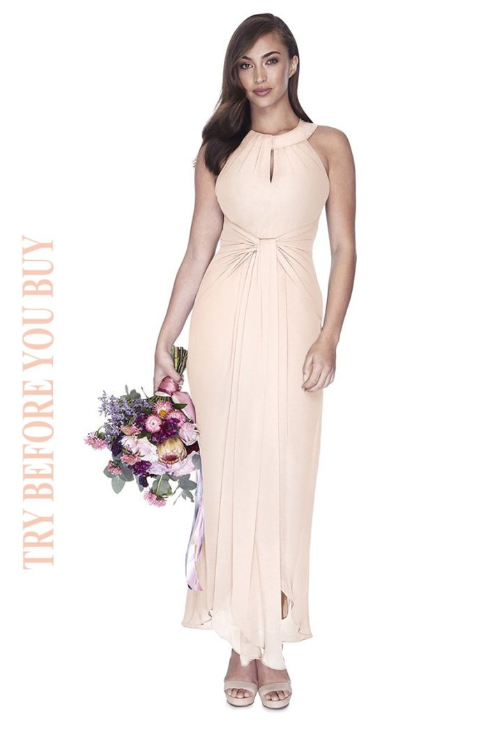 Try Before You Buy Bridesmaids Dress Mila in Blush