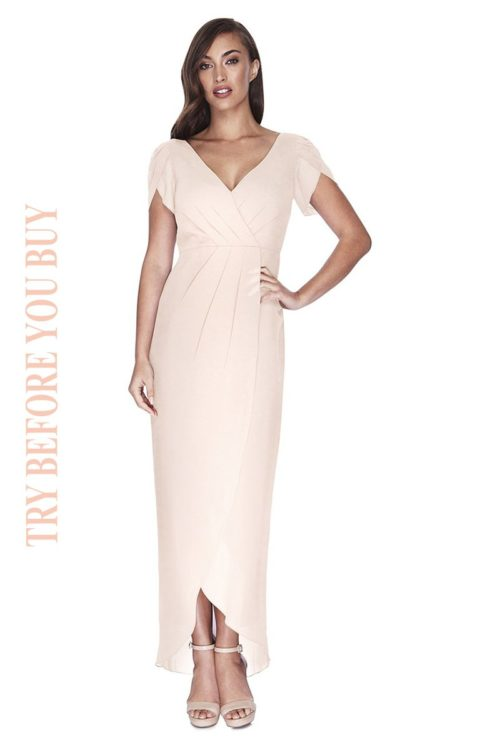 Try Before You Buy Bridesmaids Dress Zara in Barely Blush