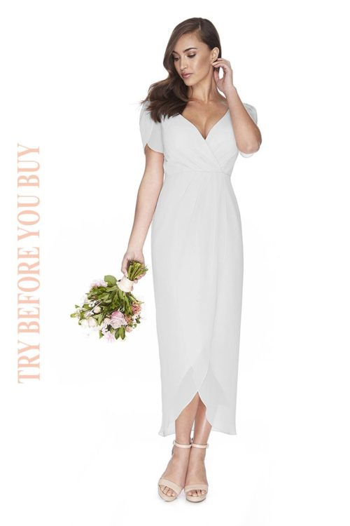Try Before You Buy Bridesmaids Dress Zara in Dove Grey