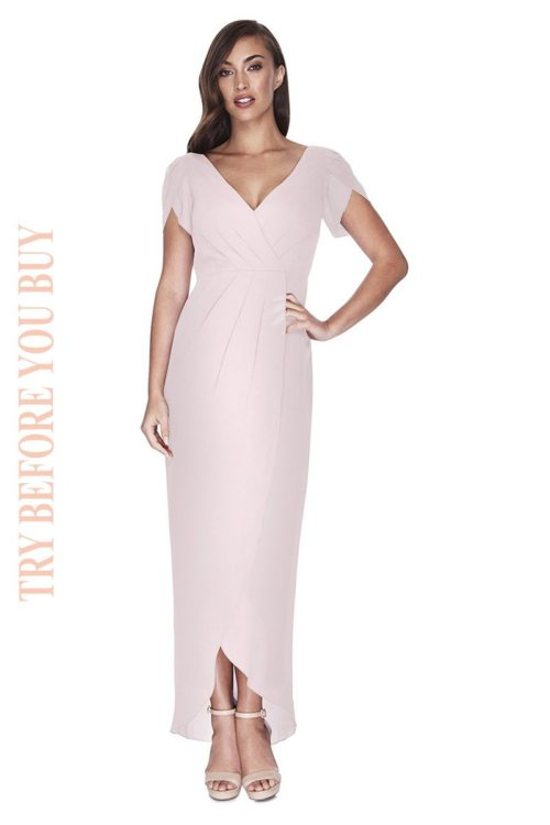 Try Before You Buy Bridesmaids Dress Zara in Tea Time