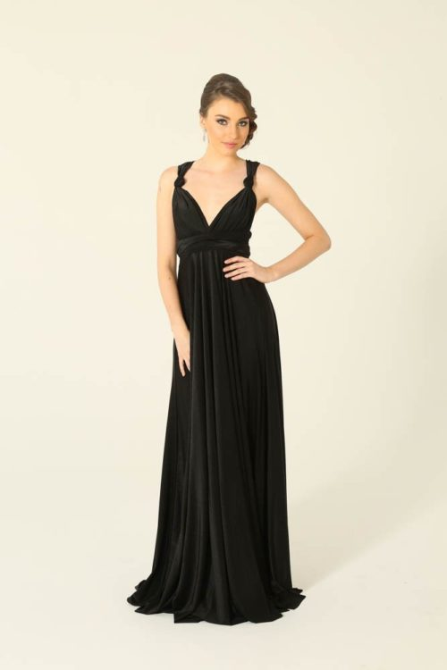 Infinity Black Bridesmaids Dress