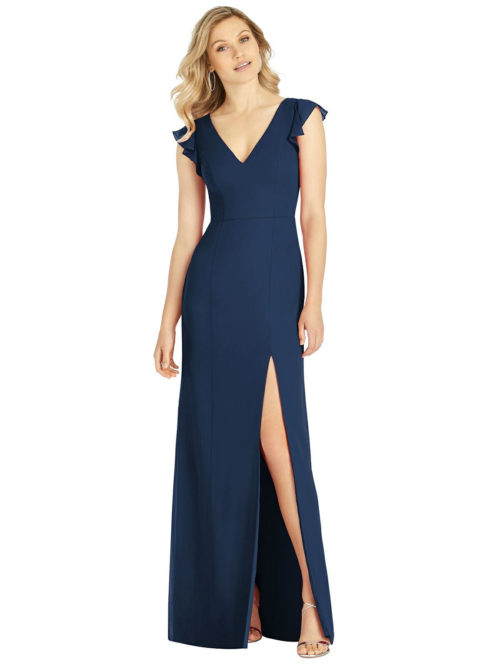 Navy Bllue Bridesmaids Dress