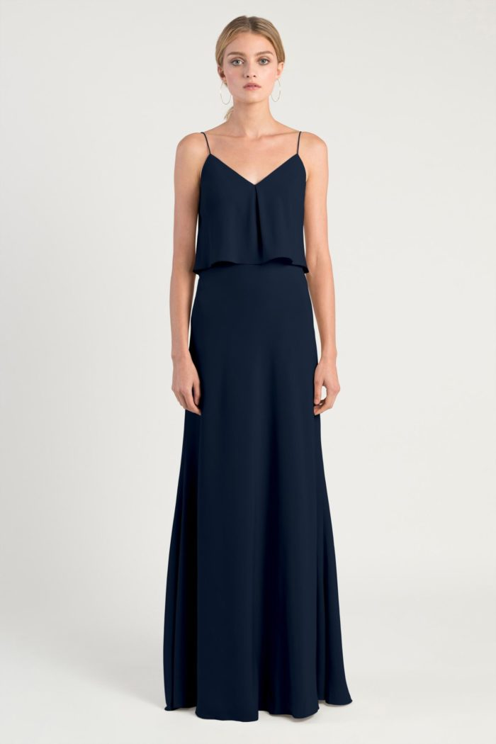 Brie Bridesmaids Dress by Jenny Yoo - Navy Blue