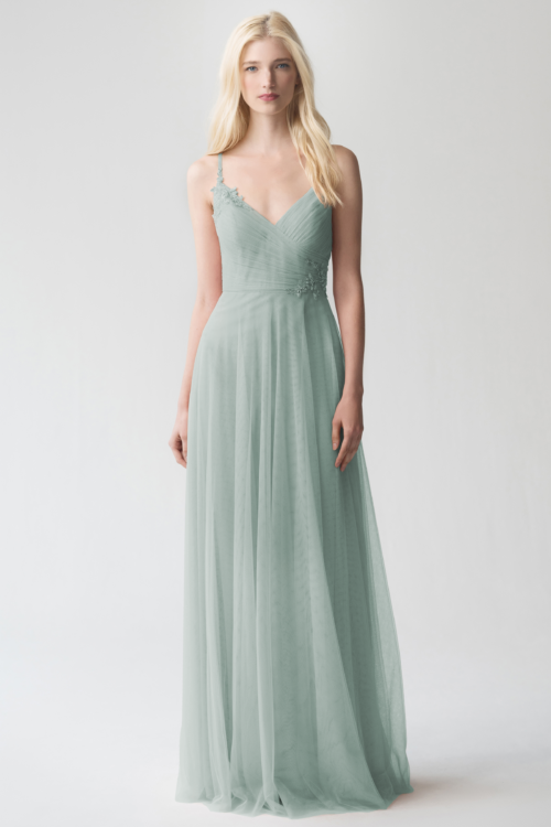 Brielle Appliqué Bridesmaids Dress by Jenny Yoo - Morning Mist
