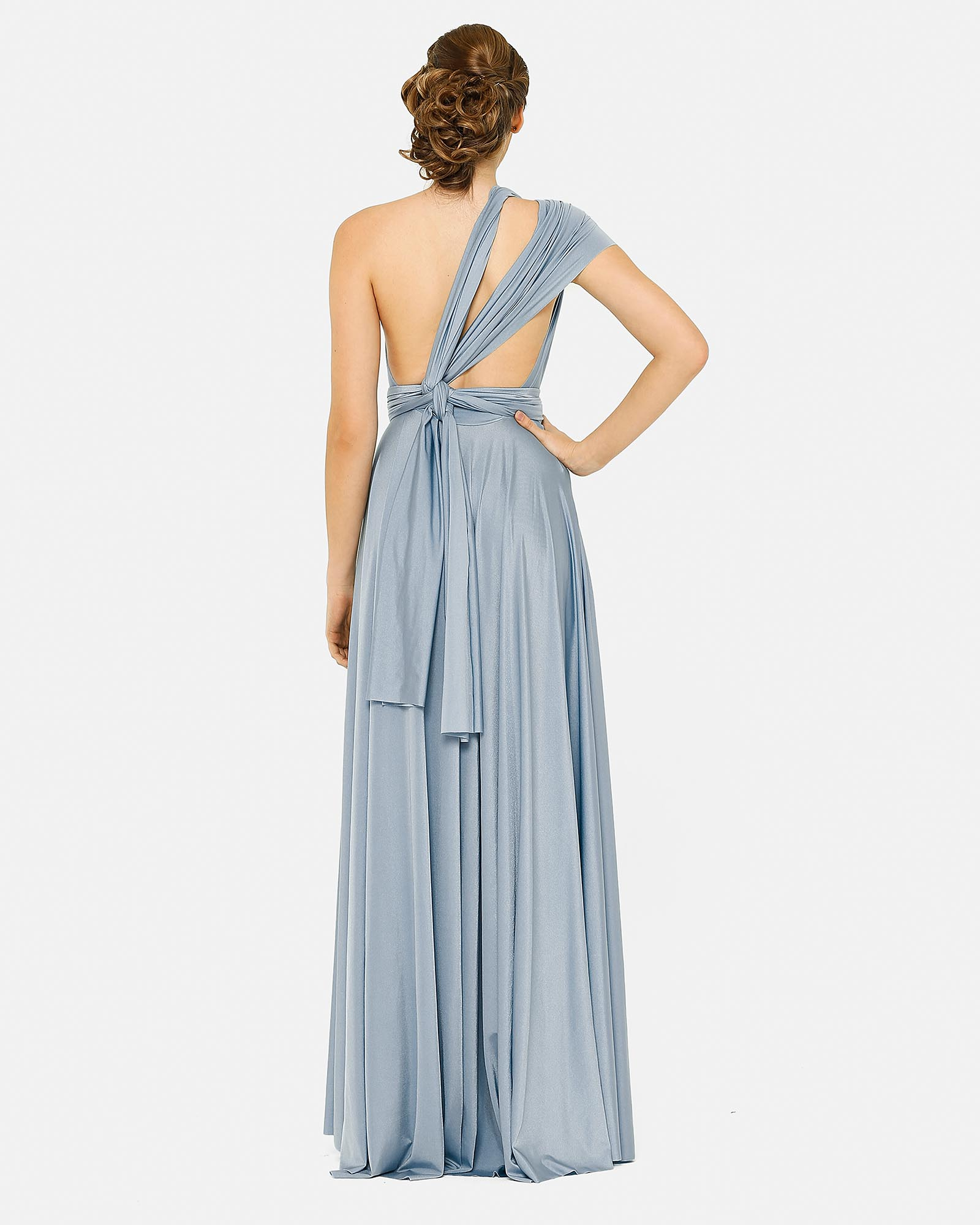 Dusty Blue Infinity Wrap Bridesmaids Dress By Tania Olsen