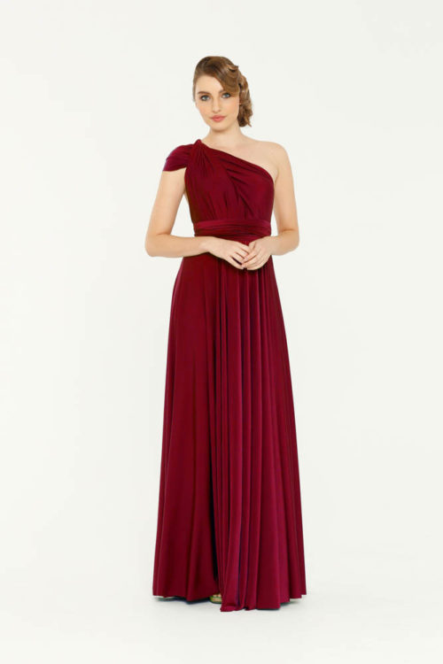Merlot Infinity Wrap Bridesmaids Dress By Tania Olsen