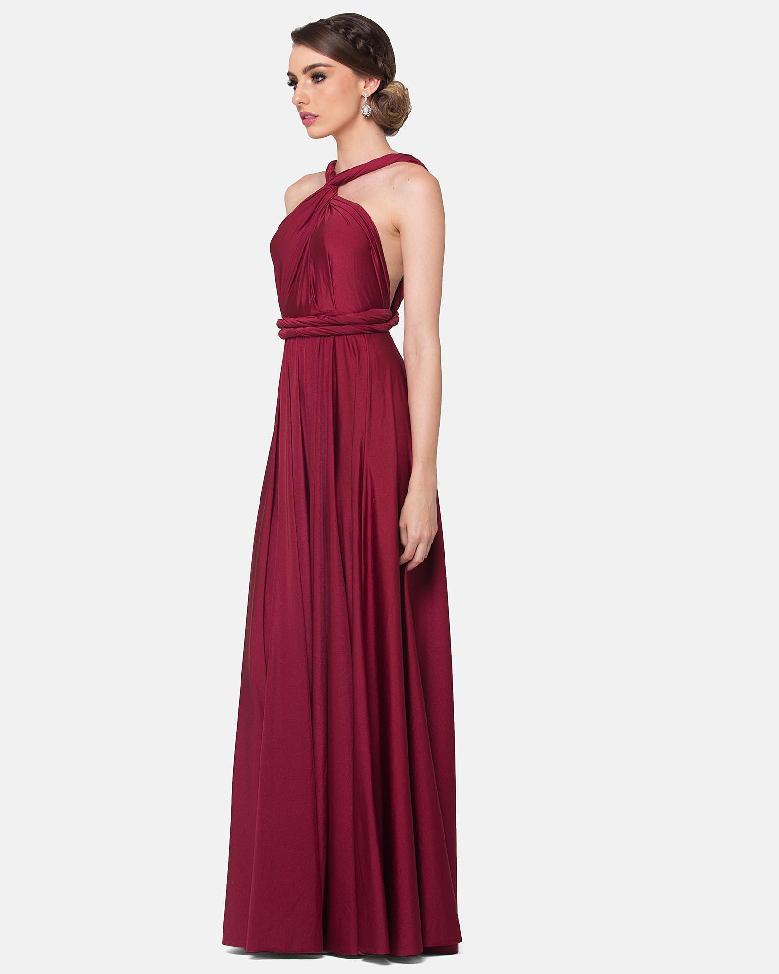 Merlot Infinity Wrap Bridesmaids Dress By Tania Olsen