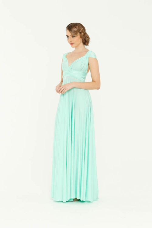 Mint Green Infinity Wrap Bridesmaids Dress By Tania Olsen