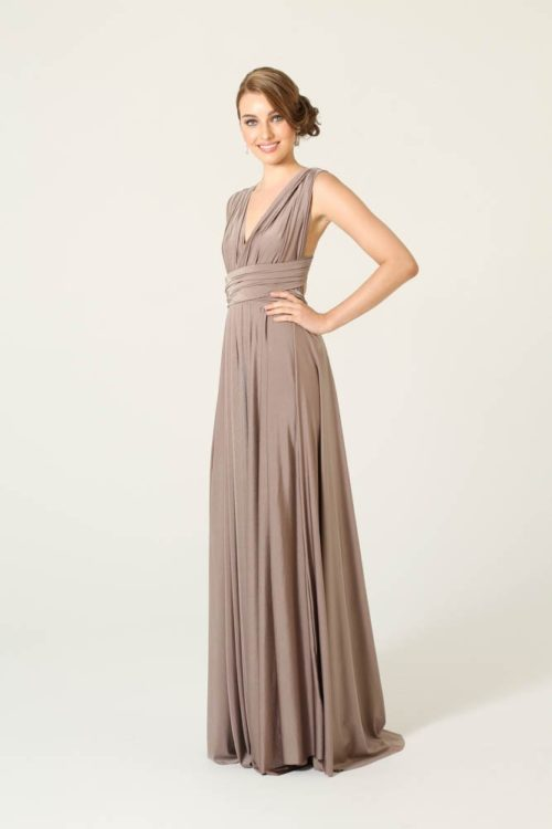 Mocha Infinity Wrap Bridesmaids Dress By Tania Olsen