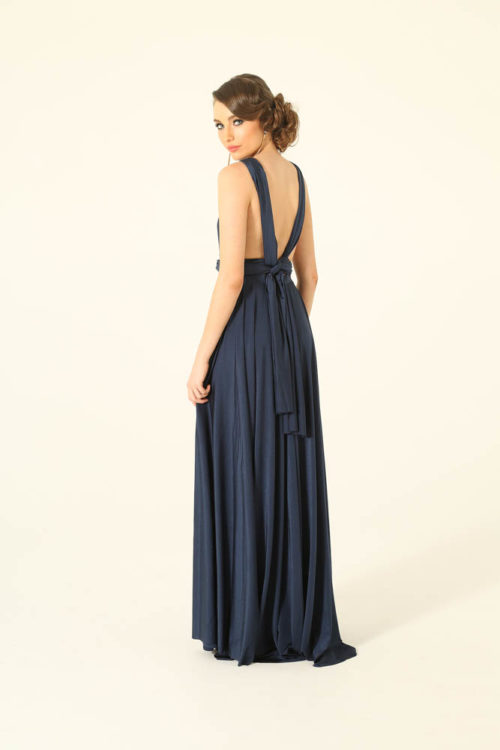 Navy Infinity Wrap Bridesmaids Dress By Tania Olsen
