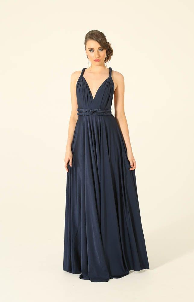 Navy Infinity Wrap Bridesmaids Dress By Tania Olsen