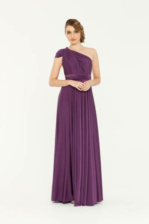 Tania Olsen Purple Infinity bridesmaids dress