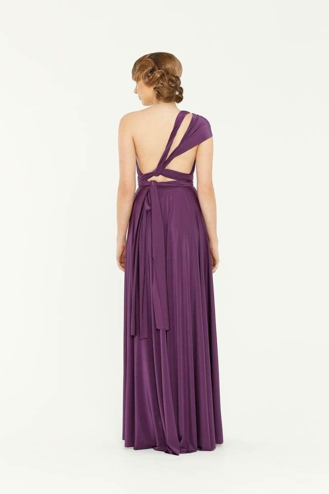 Tania Olsen Purple Infinity bridesmaids dress