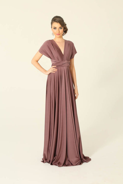 Tea Rose Infinity Wrap Bridesmaids Dress By Tania Olsen