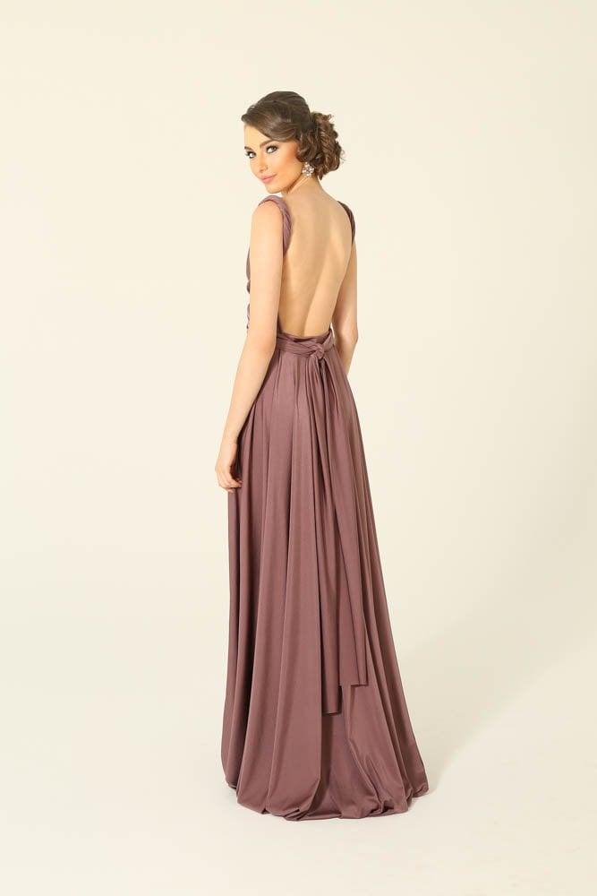 Tea Rose Infinity Wrap Bridesmaids Dress By Tania Olsen