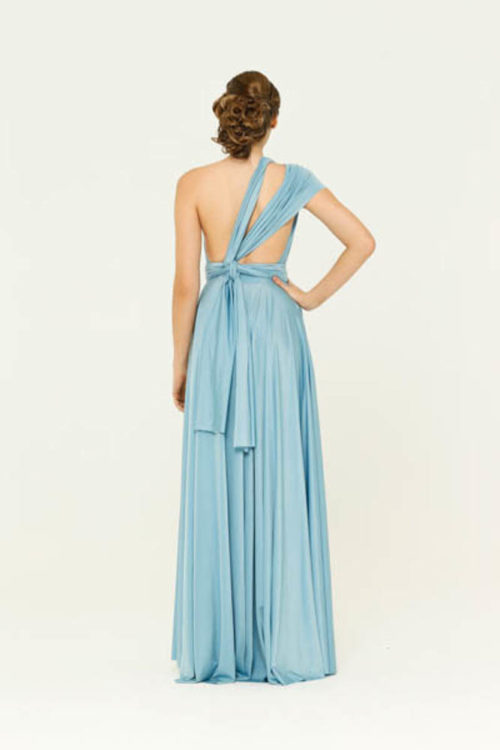Powder Blue Infinity Wrap Bridesmaids Dress By Tania Olsen