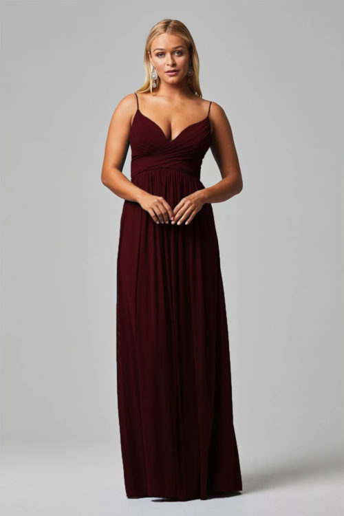 Wine Bridesmaids Dress
