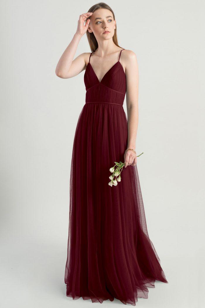 Ali Bridesmaids Dress by Jenny Yoo - Cabernet