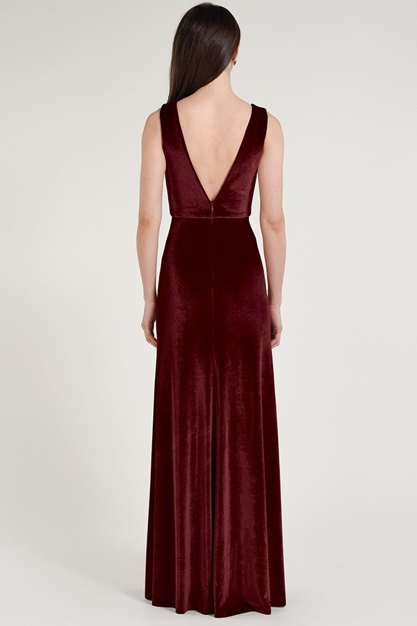 Logan Bridesmaids Dress by Jenny Yoo - Dark Berry