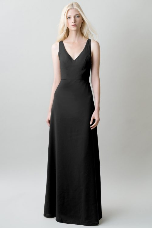Delaney Bridesmaids Dress by Jenny Yoo - Black