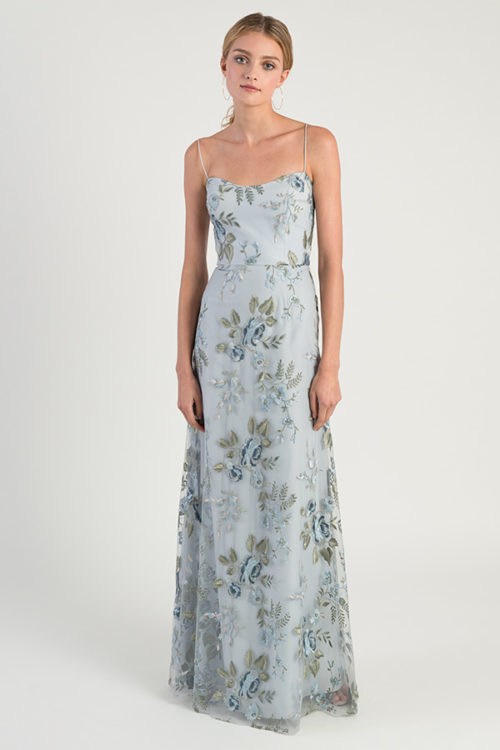 Embroidered Drew Bridesmaids Dress by Jenny Yoo - Serenity Blue