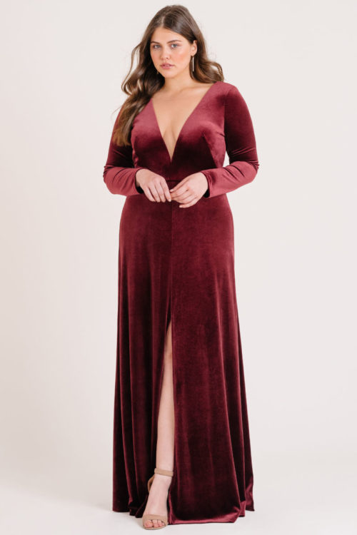 Malia Bridesmaids Dress by Jenny Yoo - Dark Berry